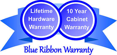 Lifetime Hardware Warranty. 10 year Cabinet Warranty
